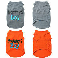 Cute Pet Dog Clothes Letter Printed Vest Summer Small Cat Puppy T Shirts Apparel