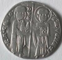Venice Coin - Italy Silver Grosso Coin- Venice Doge Reniero Zeno (1253-1268)