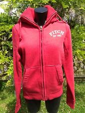 Abercrombie & Fitch Red Hooded Jacket Jumper Size L New with Tags