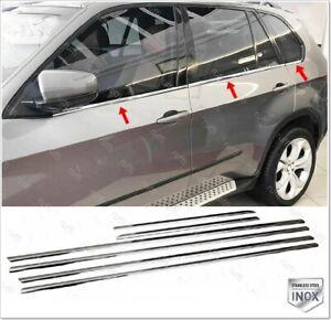 For bmw x5 e70 chrome window frame trim 6 pcs stainless steel 2006-2013