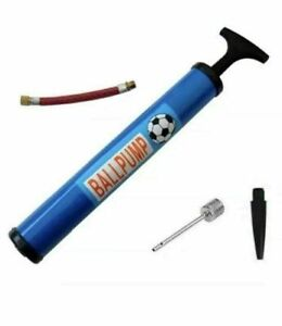 FOOTBALL PUMP BIKE BICYCLE SOCCER RUGBY Ball Pump INFLATING ADAPTER NEEDLE UK