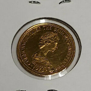 1975 FIFTY DOLLAR GOLD COIN PIECE ELEIZABETH II COMMONWELTH BAHAMAS 1973