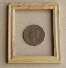 1:12 Scale Small Wooden Picture Frame With No Acetate Dolls House Accessory