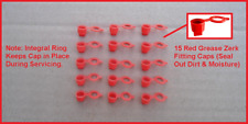 15 RED GREASE ZERK CAPS! ALL MOPAR DODGE CHARGER CHALLENGER CUDA A B C & E BODY
