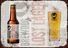 Brewdog lost lager metal wall sign
