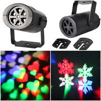 Sparkling Moving LED Snowflake Landscape Laser Projector Wall Lamp Xmas Light