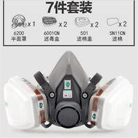 3M 6200 6001 7pcs Suit Respirator Painting Spraying Face Gas Mask 5N11 501