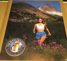 Vintage Poster Coors Beer 1992 Rocky Mountain Sexy Jogger Legend Brunette