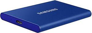 Samsung Portable SSD T7 blau 1TB externe Festplatte, USB-C 3.2 (MU-PC1T0H)