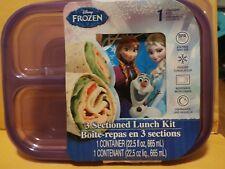 Disney Frozen Sandwich plastic containers 3 section lunch kit