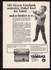 3w2821/ Alte Reklame von 1969 - YAMAHA Electron-Orgel