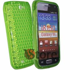 Cover for SAMSUNG GALAXY W i8150 Green Silicone