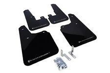 Rally Armor Mud Flaps Guards for 10-14 Subaru Outback (Black w/Silver Logo)