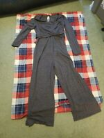 Nwt Womens Old Navy Maternity Gray Jumpsuit Size M