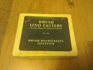 Dryad Lino Cutters - Five short handles,five cutters in box;Ref.P88....