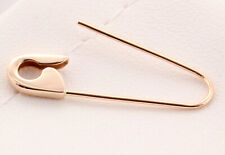 14K Rose Gold Safety Pin Brooch Earring 1''Inch long Handmade in USA