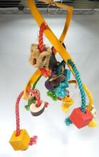 New listing Silly Wood Tasmanian Devil Bird Wood Pieces Metal Rope Toy Assorted T3