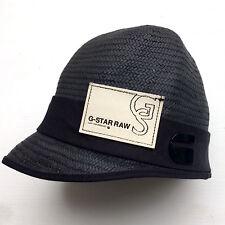 G-STAR eleganter Hut Mütze Sonnenhut Jackie Hat Papier geflochten schwarz S