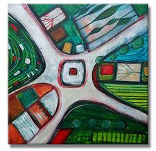 BILDER ART BUNT HANDGEMALT ART C. GOETHE MALEREI KUNST Original HANDGEMALT 60x60