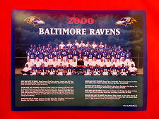 """2000 Baltimore Ravens 12"""" W x 9"""" L Team Photo - Suitable for Framing"""