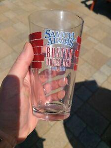 New Red Sox Fan Beer ManCave Bar Boston Sam Adams Glass Limited Edition Patriots
