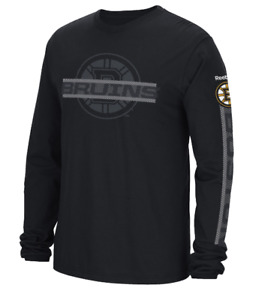 NHL Boston Bruins Long Sleeve Hockey Shirt New Mens Sizes MSRP $26