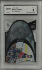 RARE 1997 SPX WAYNE GRETZKY SAMPLE CARD GMA GRADED 9