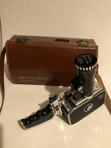 Bolex Paillard 'BOLEX ZOOM REFLEX P1' CAMERA + Case, 8mm Film Cine Vintage