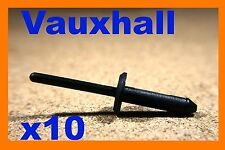 10 Vauxhall GM black nylon plastic blind pop rivets fasteners 5mm