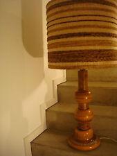 70-er Jahre Stehlampe Keramik Teak Holz Fuß