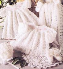 BABY LACY HEIRLOOM SET 3ply / 31cm to 41cm - COPY baby knitting pattern