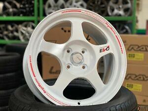 NEW 16 inch EVO Regamaster design WHITE wheel (set of 4) 4x100 Honda Toyota Kia