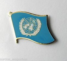 UNITED NATIONS NATIONAL COUNTRY SINGLE WORLD FLAG LAPEL PIN BADGE 1 INCH