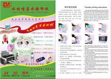 (20pcs)A4 Inkjet Water Slide Decal Paper Craft