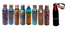 Copper Water Storage Bottle Set Of 8 new Design 900 ml Capacity With A free bag