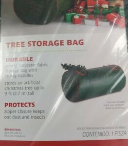 Real Simple® Holiday Tree Storage Bag. Stores up to 9 ft Artifical Tree