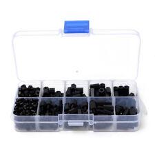 Nut Set Spacer PCB Standoff Assortment M3 Nylon Hex Screw Kit Black WH3