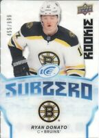 2018-19 Upper Deck Ice Sub Zero #SZ28 Ryan Donato /999 Boston Bruins