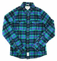 Abercrombie & Fitch Mens Long Sleeve Plaid Woven Flannel Shirt Button Front