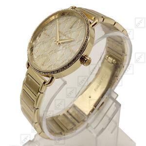 Michael Kors MK3886 Portia MK Logo Wählen Goldfarbenes Analog Mode Damenuhr