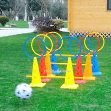 4pcs/Set Multi-funtion Sports Agility Training Kit Poles, Ring, Bases or Cones