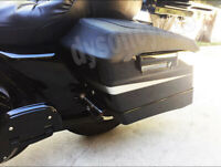 Fit 93-13 Harley Touring FLH FLHR PU Leather Hard Saddlebag Lid Waterproof Cover