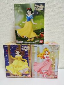 Disney Prunelle Doll 2 -- Snow White / Belle / Aurora -- figure set