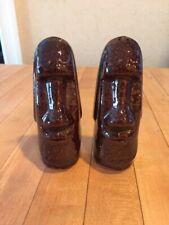Vintage Easter Island Moai Tiki Salt and Pepper Shakers