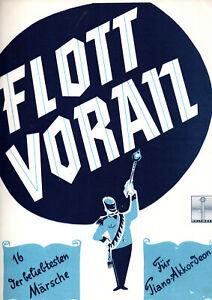 gebrauchte Akkordeon Noten  - FLOTT VORAN - 16 der beliebtesten Märsche -