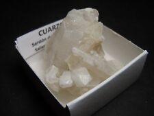 CUARZO - Quartz - Sardon de los Frailes - CAJITA - SPAIN MINERAL BOX 4x4cm B68