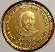"INDIA 5 RS 2010 "" MOTHER TERESA "" GEM UNC COIN FROM UNC SET KOLKATA MINT V. RARE"