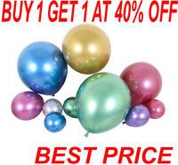 "20 METALLIC LATEX PEARL CHROME BALLOONS 12"" Helium Baloon Party happy Birthday"