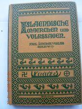 Isländische Märchen & Volkssagen in German Avenstrup Treitel 1919 Juncker Berlin