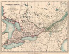 CANADA. Ontario & Quebec showing counties. JOHNSTON 1906 old antique map chart